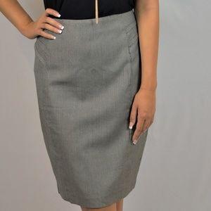 New York & Company Black Houndstooth Skirt sz 12